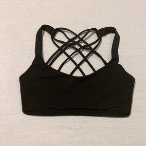 lululemon free to be black sports bra